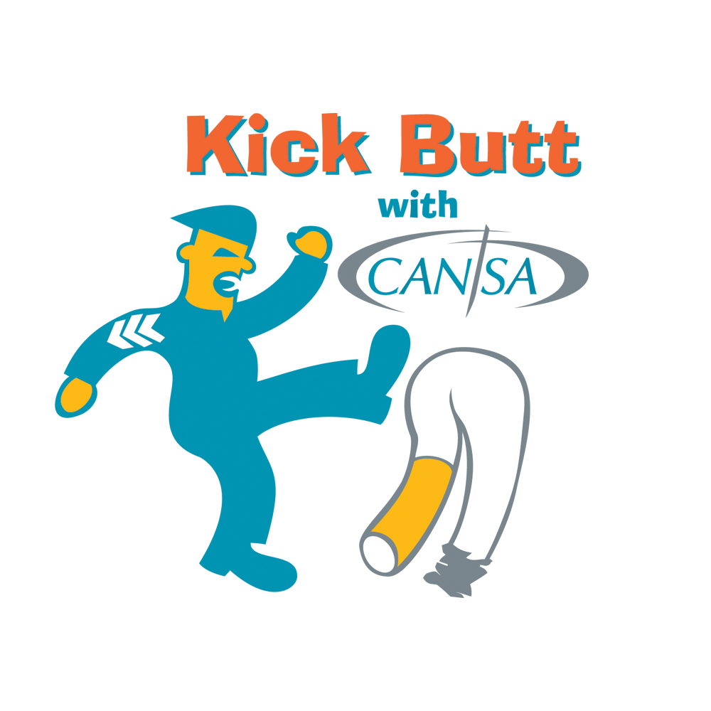 Logo design for CANSA Kickbutt Smoking Cessation Programme